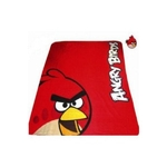 "ANGRY BIRDS - Plaid - Couverture polaire - 125 x 150 cm - "" Rouge """
