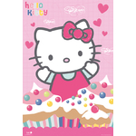 "HELLO KITTY - Poster - 61 x 91 cm - "" Cupcakes """