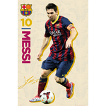 FOOTBALL - Poster FC Barcelona - 61 x 91cm - Messi Autographe