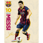 FOOTBALL - Poster FC Barcelona - 40 x 50cm - Messi Autographe