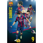 FOOTBALL - Poster FC Barcelona - 61 x 91cm - Suarez Collage