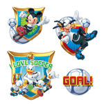MICKEY - 2 planches de 4 stickers (30 x 40 cm)