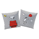 "SNOOPY - Coussin reversible - 40 x 40 cm - "" Classic Red """