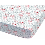 SNOOPY - Drap Housse - 90 x 190 cm - Classic Red