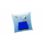 "SNOOPY - Coussin reversible - 40 x 40 cm - "" Wake Up """