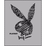 "PLAYBOY - Plaid - couverture - 110 x 140 cm - ""Pencil """