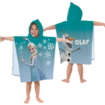 REINE DES NEIGES - Poncho - Cape de bain - 120 x 60 cm - Frozen Enjoy