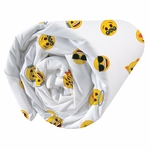 EMOJI  - Drap-housse - 140 x 190 cm - Smiley Party Time (PLC)