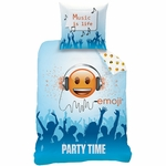 EMOJI - Parure de lit - housse de couette - 140 x 200 cm - Smiley Party Time (PLC)