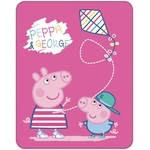 PEPPA PIG RECREATION - Plaid 110 x 140 Cm