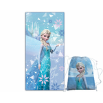 REINE DES NEIGES - Serviette - Drap de bain/plage 140 x 70 cm + Sac de Piscine - FROZEN WINTER
