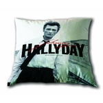 Johnny Halliday - Coussin 40 x 40 cm - Rock'N'Roll Attitude