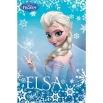 FROZEN -  Reine des neiges  -  Plaid - Couverture caline - 100 x 150 cm - Elsa - Bleu
