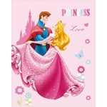 PRINCESSES DREAMING LOVE - Plaid 110 x 140 - Réf : DPR423598