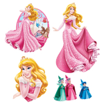 DISNEY PRINCESSE - 2 planches de 5 stickers (30 x 40 cm)