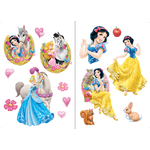 DISNEY PRINCESSE - 2 planches (45 x 65 cm) - 15 Stickers au total