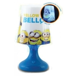 MINIONS - Mini Lampe de chevet Led Bleu - 18.5 x 11 cm