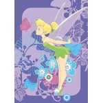 DISNEY FAIRIES - TAPIS Fée Clochette - 133 x 95 cm