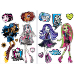 MONSTER HIGH - 2 planches (45 x 65 cm) - 15 Stickers au total