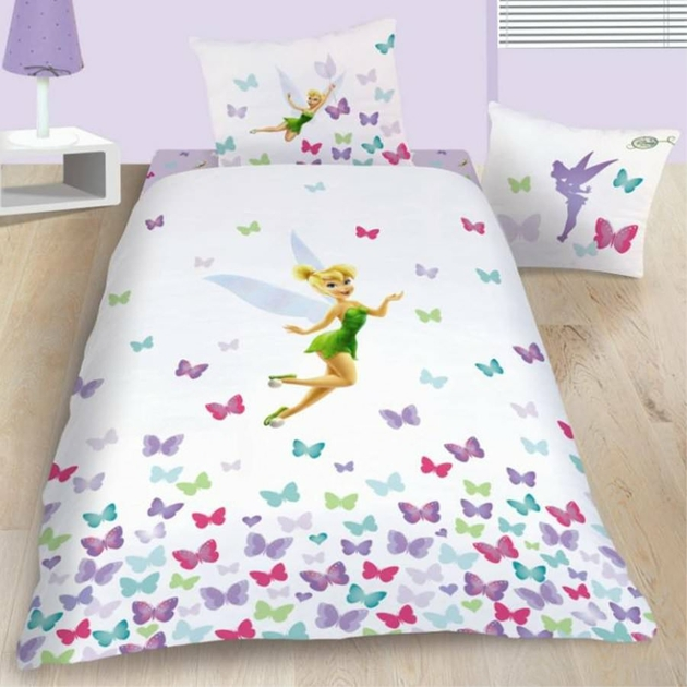 housse de couette disney fairies f e clochette 140 x 200 cm parure de lit. Black Bedroom Furniture Sets. Home Design Ideas