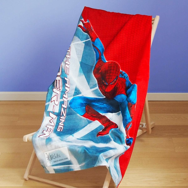 spiderman serviette drap de bain plage 140 x 70 cm. Black Bedroom Furniture Sets. Home Design Ideas