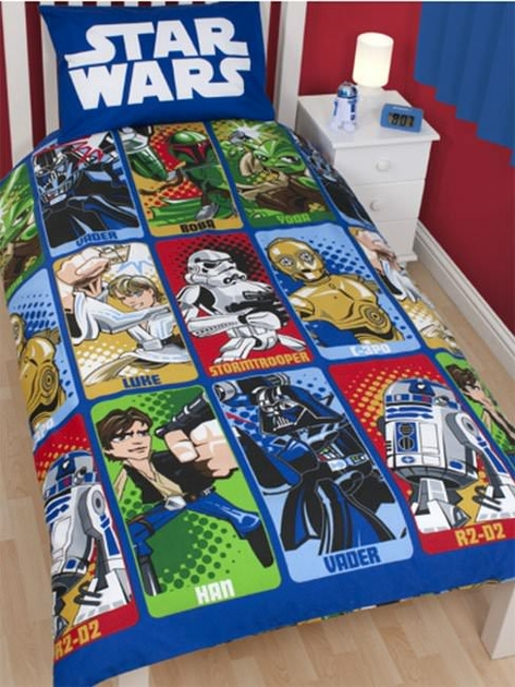 housse de couette star wars 140x 200cm parure de lit. Black Bedroom Furniture Sets. Home Design Ideas