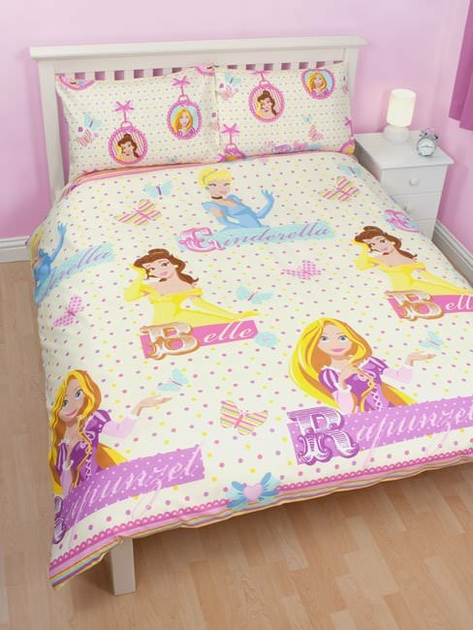 housse de couette disney princesse 200x 200cm parure de. Black Bedroom Furniture Sets. Home Design Ideas