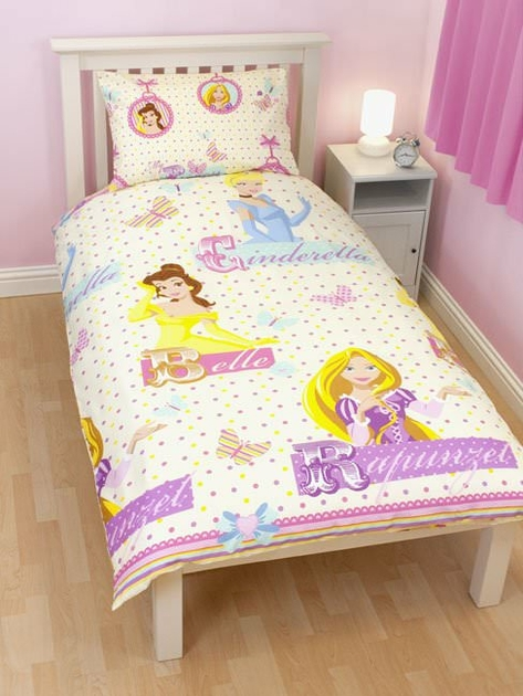 housse de couette disney princesse 140x 200cm parure de. Black Bedroom Furniture Sets. Home Design Ideas