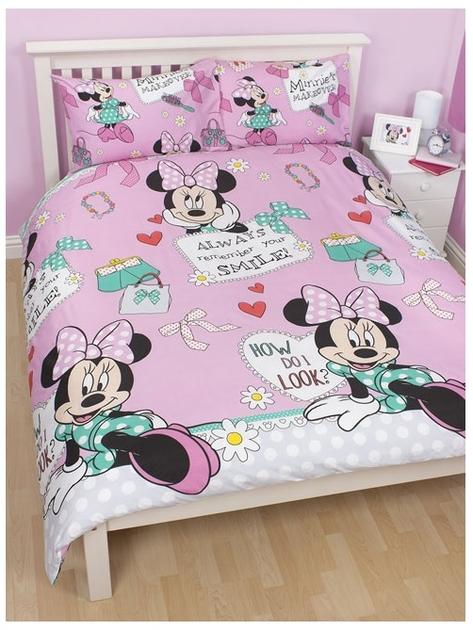minnie parure de lit housse de couette 200cm x 200cm makeover minnie decokids. Black Bedroom Furniture Sets. Home Design Ideas