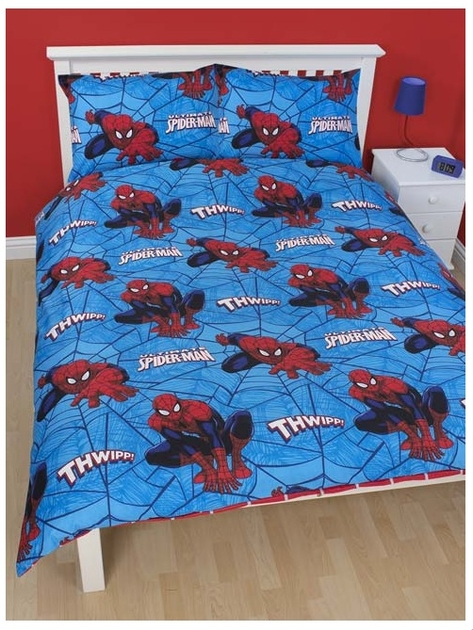 spiderman housse de couette parure de lit 200 x 200. Black Bedroom Furniture Sets. Home Design Ideas