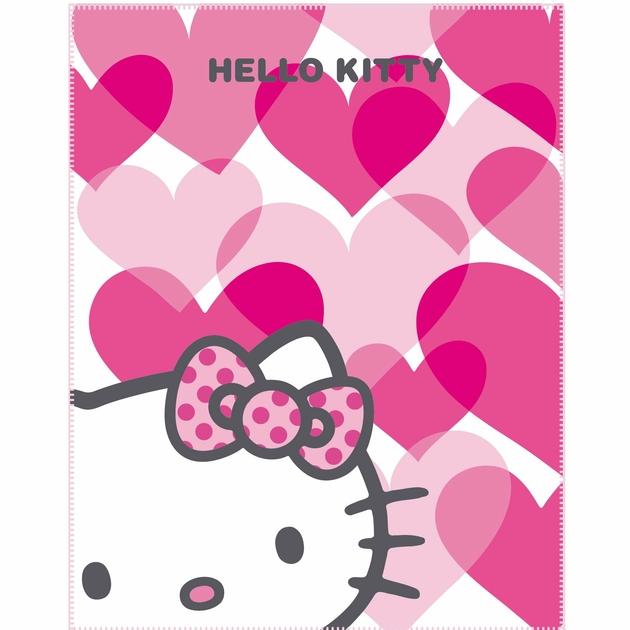 Plaid hello kitty couverture c line polaire 110 x 140 cm mimi love decokids tous - Hello kitty et mimi ...