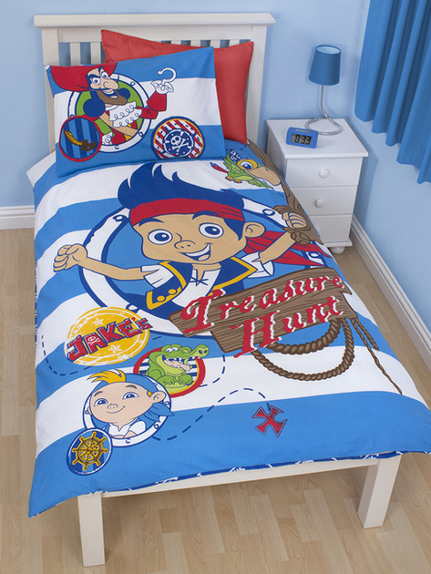 pirate jake parure de lit r versible housse de couette 135 x 200 cm doubloons jake le. Black Bedroom Furniture Sets. Home Design Ideas
