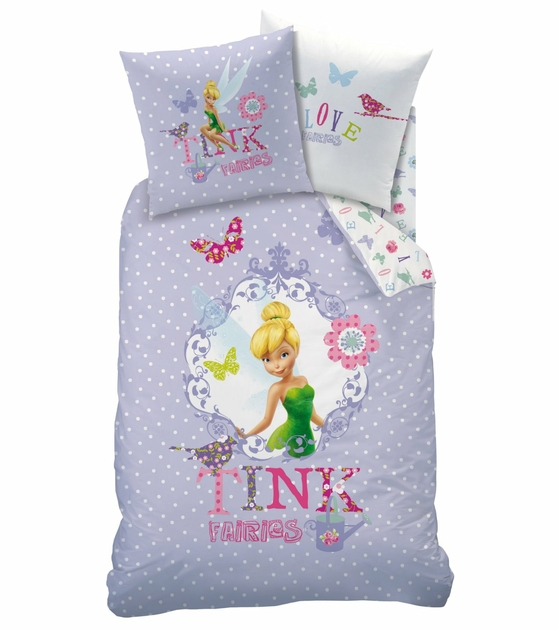 housse de couette f e clochette disney fairies parure de lit 140 x 200 cm rossignol. Black Bedroom Furniture Sets. Home Design Ideas