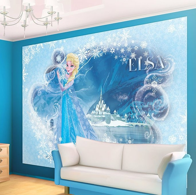 decoration murale la reine des neiges. Black Bedroom Furniture Sets. Home Design Ideas
