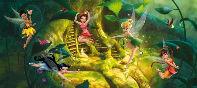 poster g ant horizontal disney fairies papier peint f e clochette 202x90 cm decokids tous. Black Bedroom Furniture Sets. Home Design Ideas