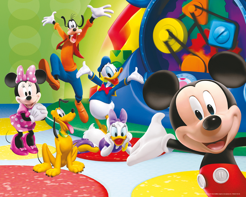 mickey poster 40 x 50 cm together mickey decokids tous leurs h ros. Black Bedroom Furniture Sets. Home Design Ideas