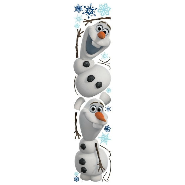 Frozen 2 maxi stickers 50 cm de olaf 12 autocollants divers reine des neiges frozen - Frise reine des neiges ...