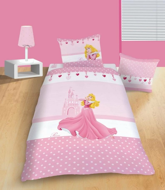 housse de couette disney princesse 140 x 200 cm parure de lit pivoine decokids. Black Bedroom Furniture Sets. Home Design Ideas