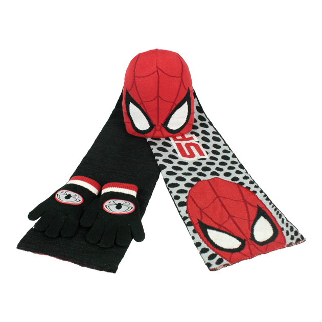 SPIDERMAN - Set comprenant bonnet, écharpe , gant / SPI2202001068