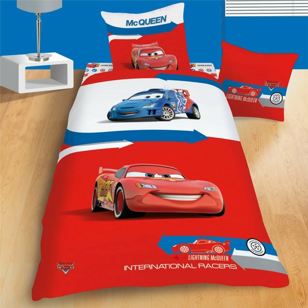 housse de couette disney cars 140 x 200 cm parure de lit arrow decokids. Black Bedroom Furniture Sets. Home Design Ideas