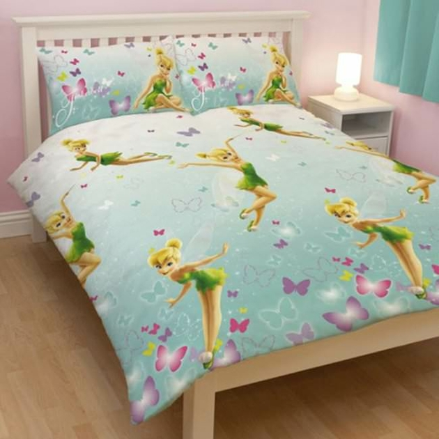 housse de couette disney fairies f e clochette 200 x 200 cm parure de lit imagine decokids. Black Bedroom Furniture Sets. Home Design Ideas