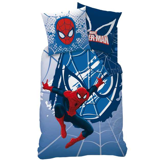 spiderman webhead parure 140 x 200 coton r f spi427718 spiderman decokids tous leurs. Black Bedroom Furniture Sets. Home Design Ideas