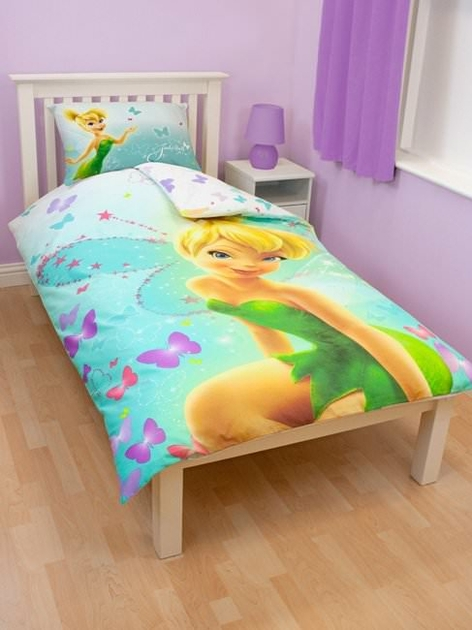 housse de couette disney fairies f e clochette 140 x 200 cm parure de lit imagine decokids. Black Bedroom Furniture Sets. Home Design Ideas