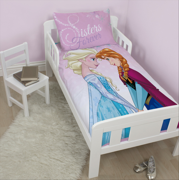 frozen la reine des neiges parure de lit housse de couette petit lit 120 x 150cm. Black Bedroom Furniture Sets. Home Design Ideas