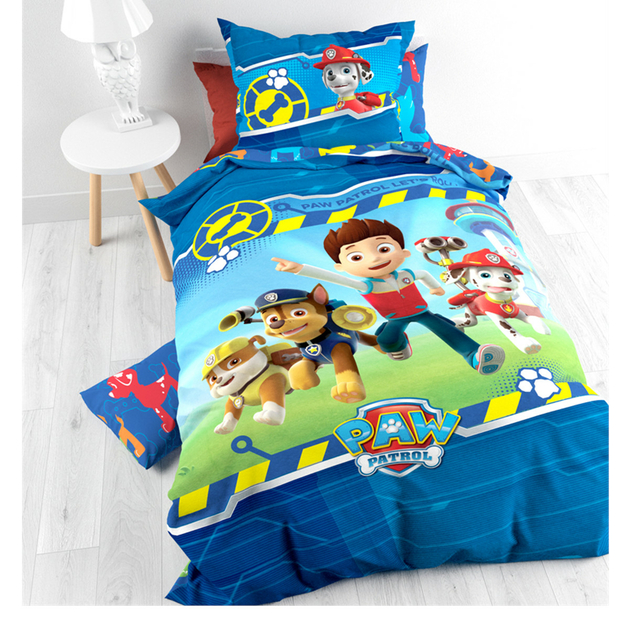 pat patrouille parure de lit housse de couette 140 x 200 cm paw patrol pat patrouille. Black Bedroom Furniture Sets. Home Design Ideas