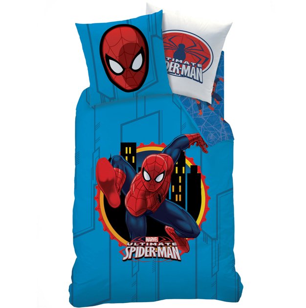 Spiderman window parure 140 x 200 plc r f for Housse de couette spiderman