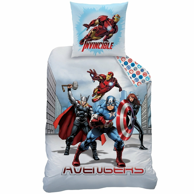 avengers parure de lit housse de couette 140x200. Black Bedroom Furniture Sets. Home Design Ideas