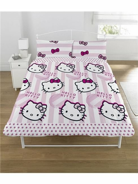 housse de couette hello kitty 200 x 200 cm parure de lit. Black Bedroom Furniture Sets. Home Design Ideas