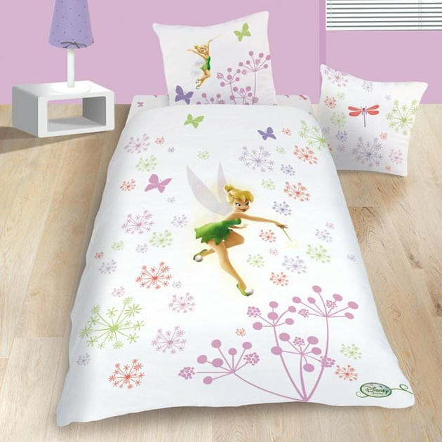 housse de couette disney fairies f e clochette 140 x 200 cm parure de lit magic decokids. Black Bedroom Furniture Sets. Home Design Ideas