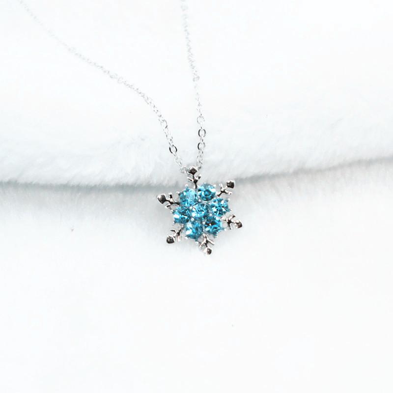 Collier flocon de neige - pour être la reine - FLAK